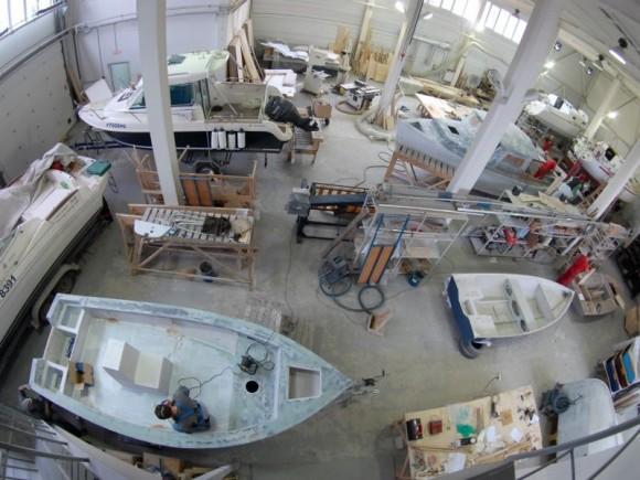 процесс изготовления пластиковых лодок