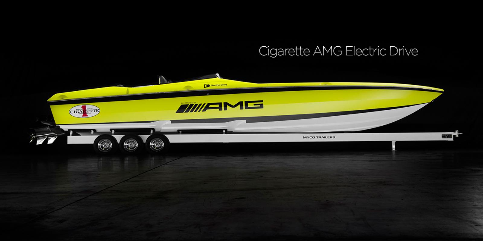 Cigarette AMG Electric Drive Concept - Самые быстрые катера в мире