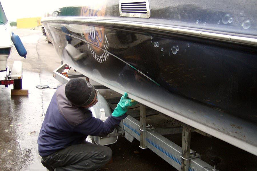 Ремонт катера из стеклопластика