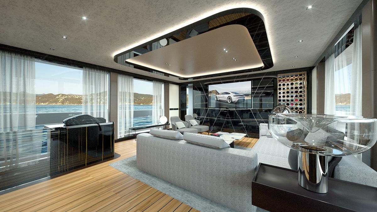 GTT 115 - новая яхта класса люкс с дизайном от Porsche