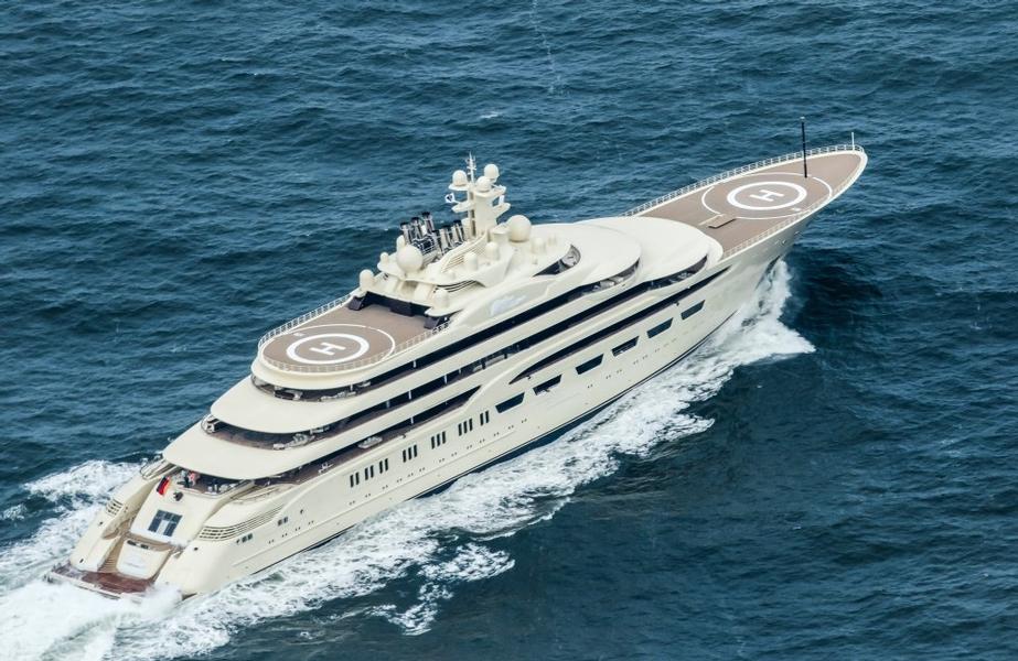 Самая большая яхта -Lurssen Dilbar